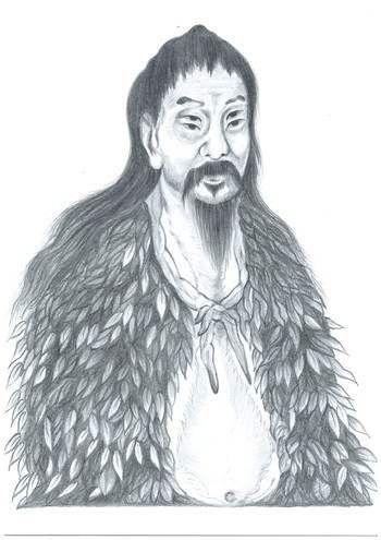 Чань Цзе - великий создатель китайских иероглифов.  Он был придворным историографом императоров Фу Си (владыка Востока) и Хуан-ди (Жёлтый император).  Один раз Цан Цзе увидел в горах большую черепаху. Его взгляд приковал на её панцире искусный узор с голубыми прожилками. Он скрупулёзно изучил рисунок на панцире и пришёл к выводу, что его структура неслучайна.