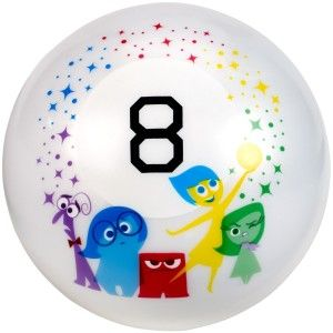 Magic 8 Ball Inside Out Edition Action Game Celebrate Disney /Pixar's Inside Out with fortunetelling fun! Ask the Magic 8 Ball anything you want then turn it over and your answer will appear in the window!