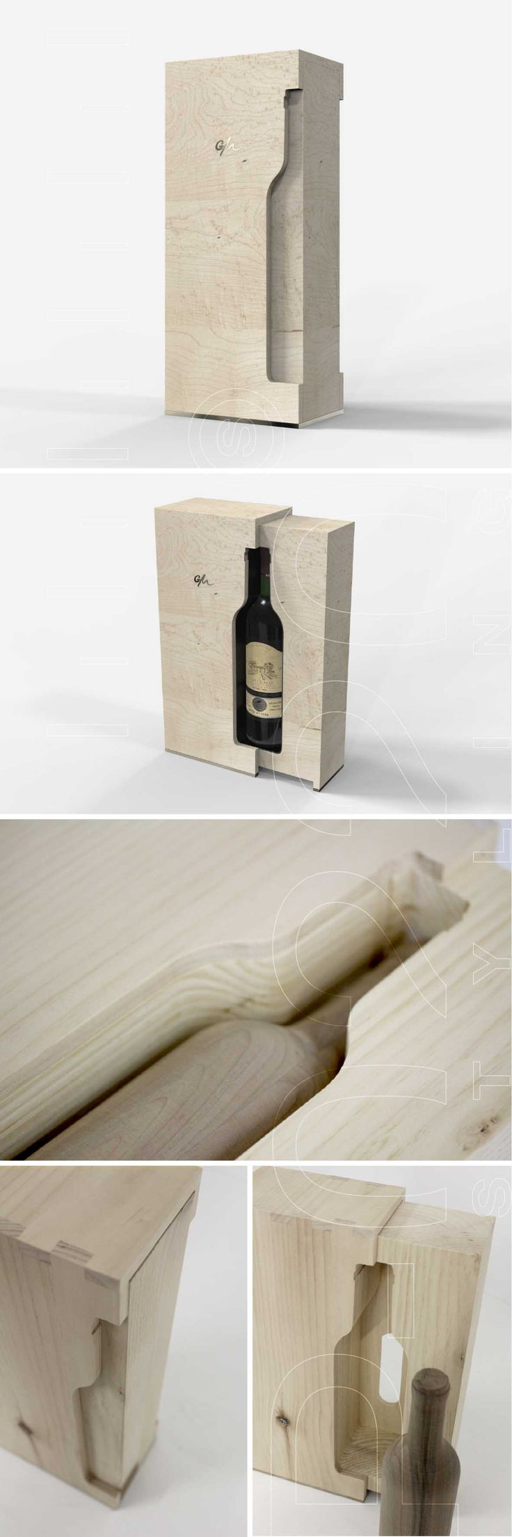 Écrin Bouteille de Vin / Wine Bottle Box designed by Pozzo di Borgo Styling SA.
