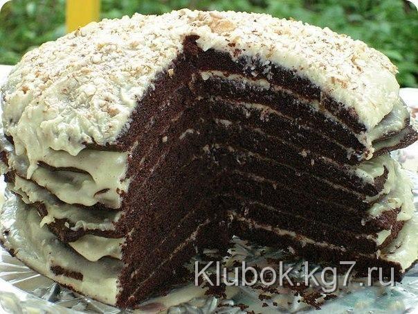 """Шоколадный торт на кефире """"Новогодняя Ночь"""""""