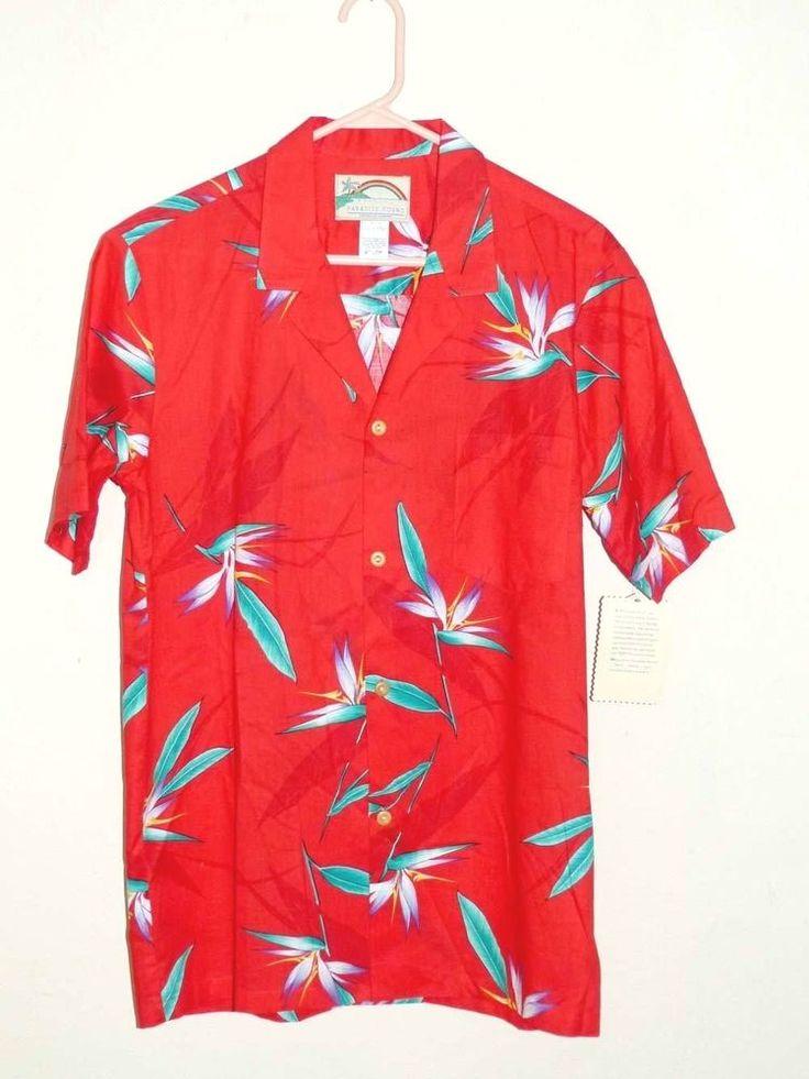 Vintage Paradise Found Hawaiian Shirt (M) Tom Selleck favorite #ParadiseFound #Hawaiian