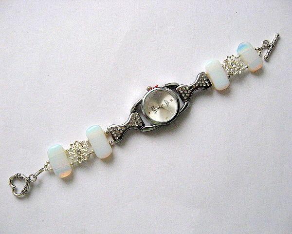 Bratara si ceas bijuterie femei piatra lunii si cristale - idei cadouri femei