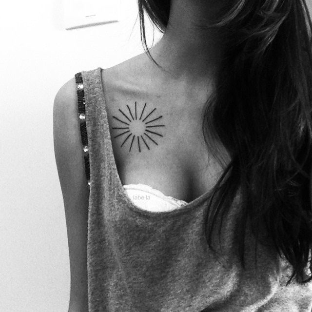 Sol - Tatuajes para Mujeres. Encuentra esta muchas ideas mas de Tattoos. Miles de imágenes y fotos día a día. Seguinos en Facebook.com/TatuajesParaMujeres!