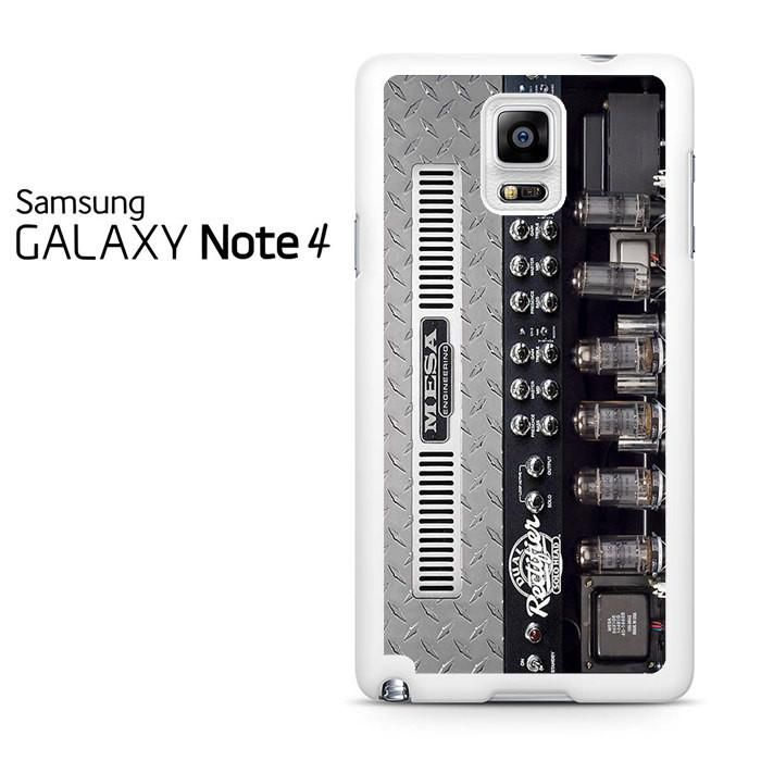 Mesa Boogie Dual Rectifier Classic Head Black Vinyl Front Samsung Galaxy Note 4 Case