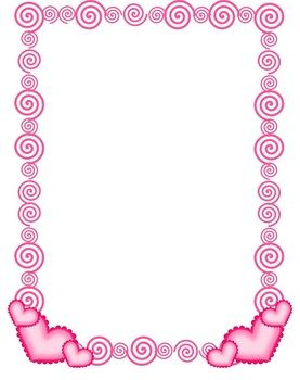 FREE Swirlie Heart Border - Commercial & Personal Use