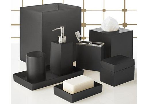 46 best images about everything black on pinterest black for Mosaic bathroom bin