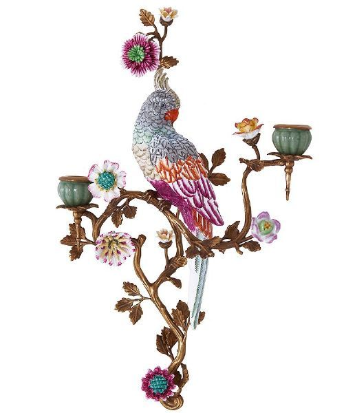 Parrot wall sconce in 2019   Wall sconces, Decorative ... on Wall Sconces That Hold Flowers id=82354