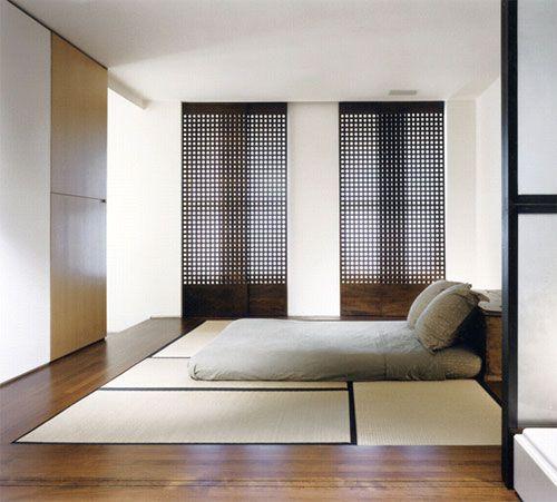 Bedroom design in Japan