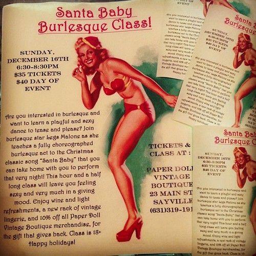 santa baby burlesque class