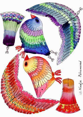 paper birds cut-out