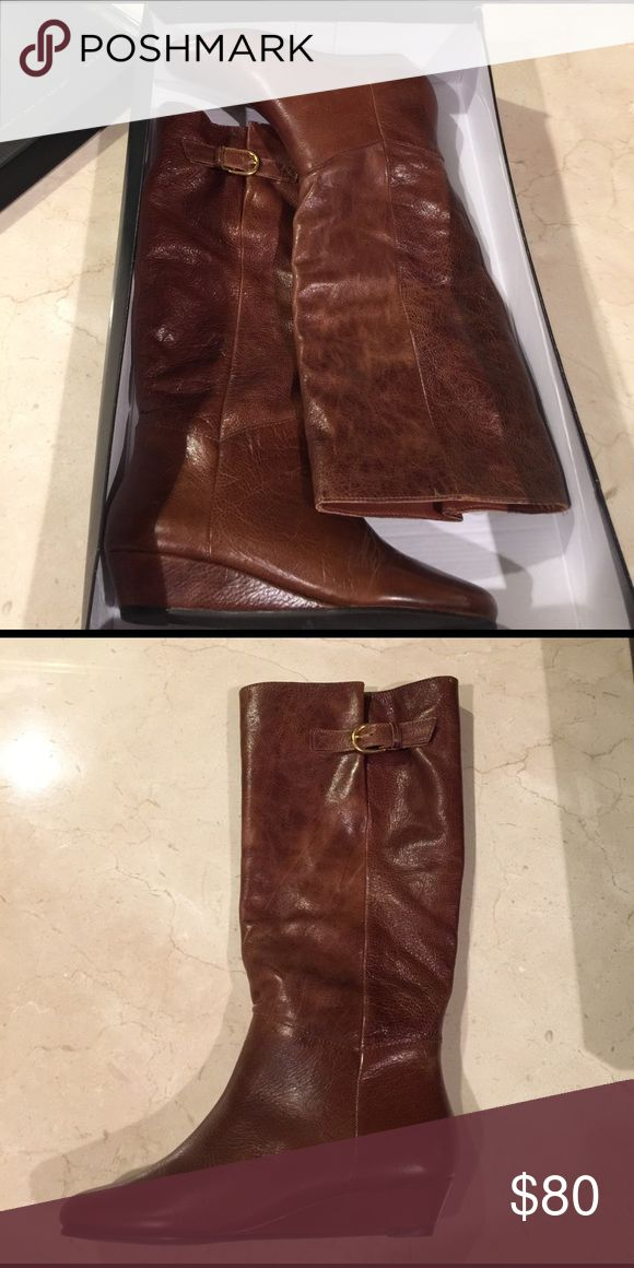 Steve Madden Intyce Cognac Boots Beautiful Steve Madden INTYCE cognac boots. Brand new, never worn in box. Steve Madden Shoes Heeled Boots
