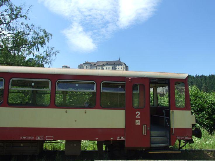 Train and castle (Český Šternbnerk- distr. Benešov, central Bohemia)