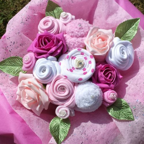 283 best baby shower diy gift ideas images on pinterest party pink baby clothes bouquet gift hamper mummy baby new baby girl present negle Image collections