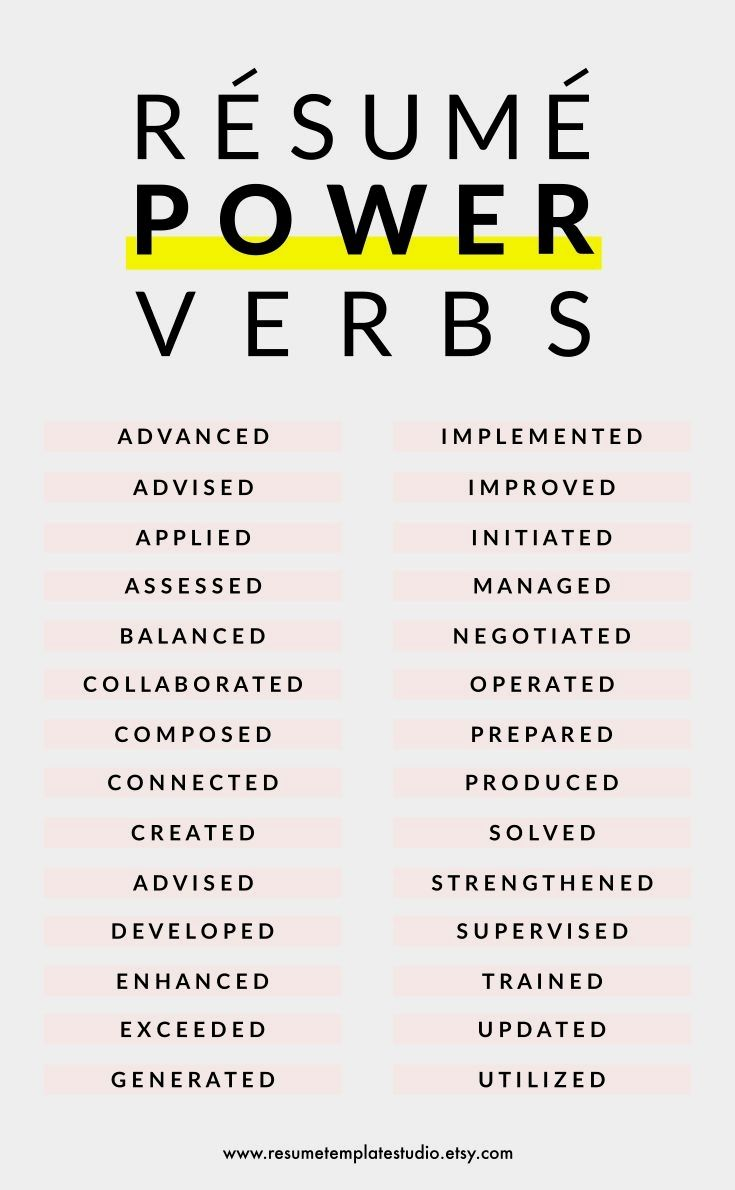 Resume power verbs and Resume tips to boost your Resume | Resume in ...