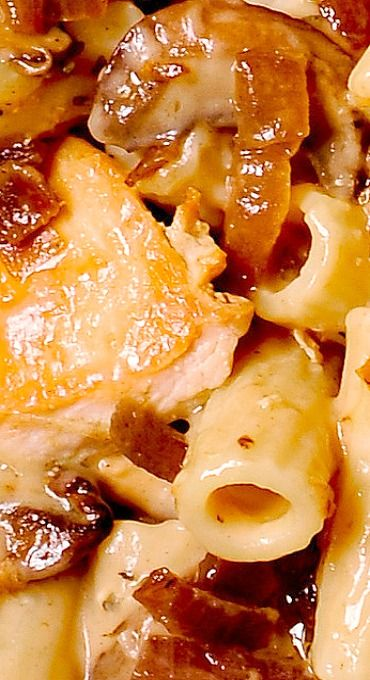 Pasta Da Vinci – Sautéed Chicken and Mushroom Pasta in Madeira Wine Sauce
