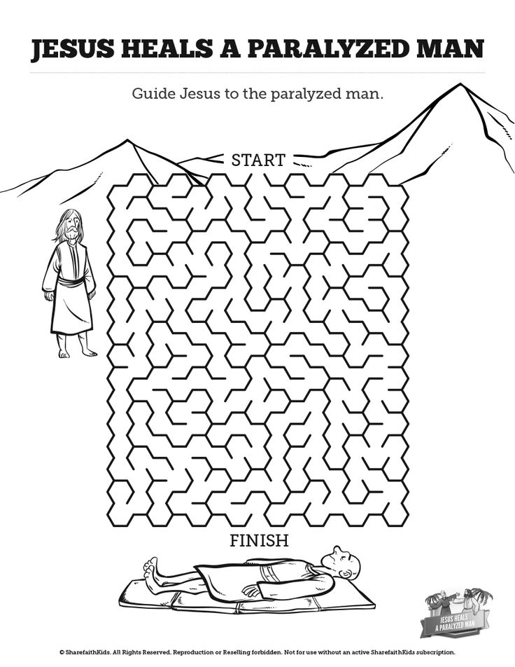 35 best jesus heals the paralytic man images on for Jesus heals a paralytic coloring page