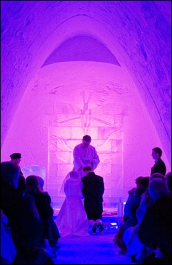 Oh, if we were not already married.. Hunderfossen Ice Cathedral, Lillehammer, Norway.