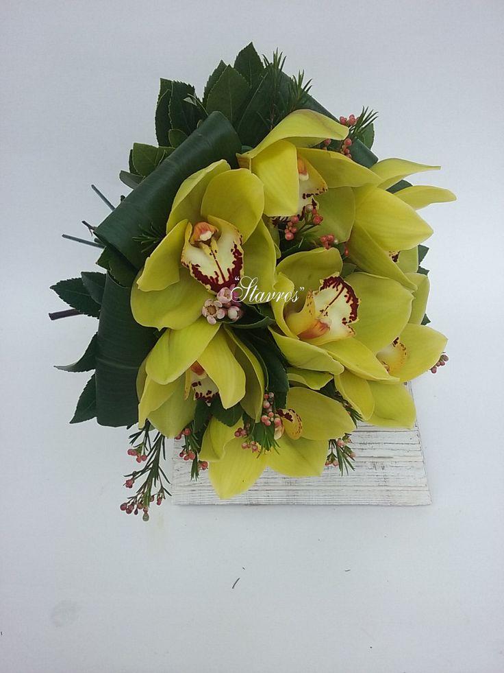 #green#cymbidium#bouquet