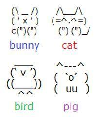 weird text emoticon - Google Search (animals)