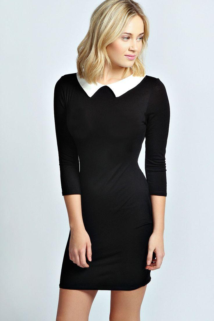 Innovative Saint Laurent Womens Black Lace Beaded Collar Dress  Styledresses
