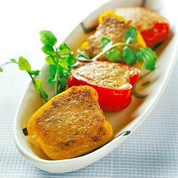 カラーピーマンのいわし詰め | 河合真理さんの肉詰めの料理レシピ | プロの簡単料理レシピはレタスクラブネット