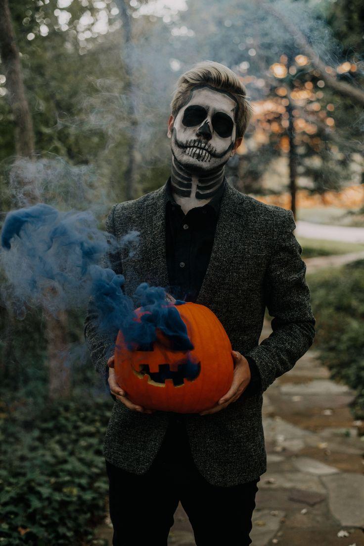Skeleton Smoke Bomb Halloween Shoot, 2020 Portre