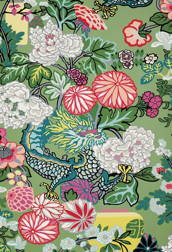 BTY Schumacher Chiang Mai Dragon by SouthernShadesHome on Etsy