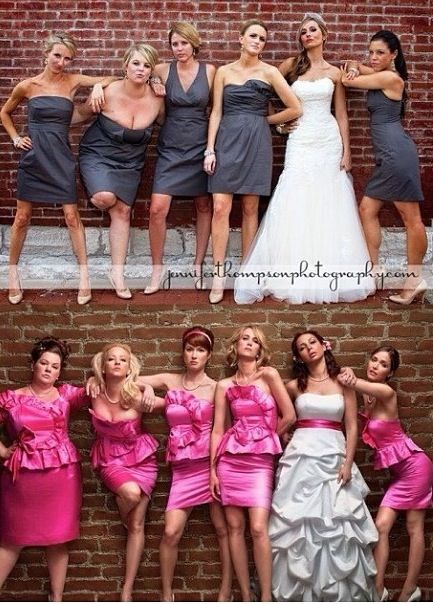Wedding picture pose like the cover of bridesmaids good idea for school dance pictures