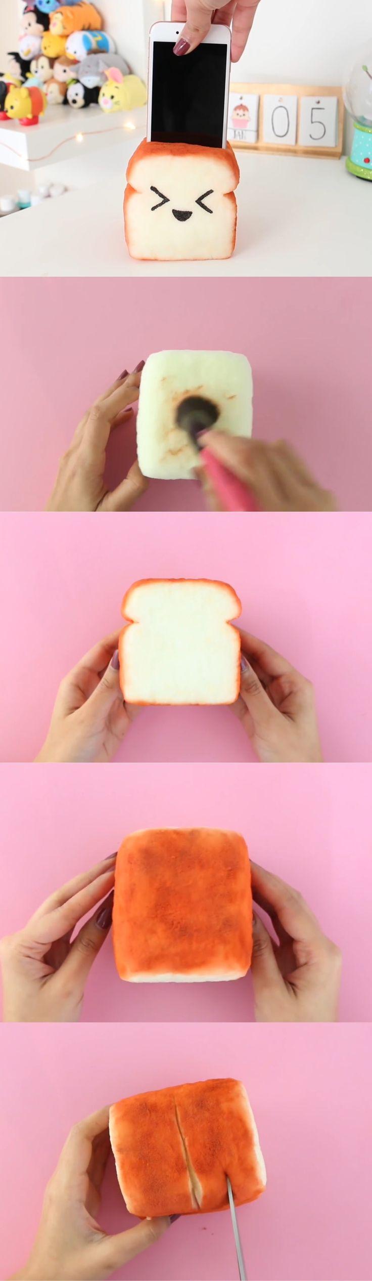 porta celular en forma de pan tostado parte 2
