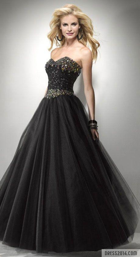 Novia de negro con glamour...
