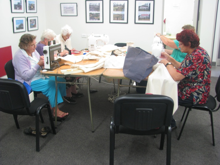 The Women's Institute have been sewing calico slip covers for our textiles. We love our volunteers :-)