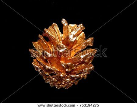 Gold cone on a black background