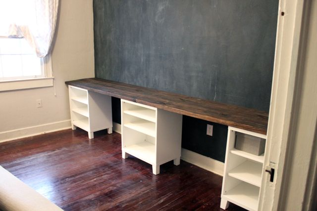 Diy 12 Foot Long Double Desk Caitlin Wallace Rowland Art Design Double Desk Home Home Office Furniture
