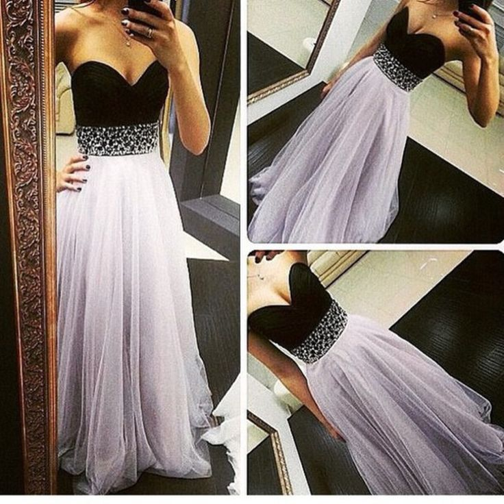 Light Lavender Tulle Prom Dresses 2016, Long Prom Dresses 2016, Prom Gowns, Evening Gowns
