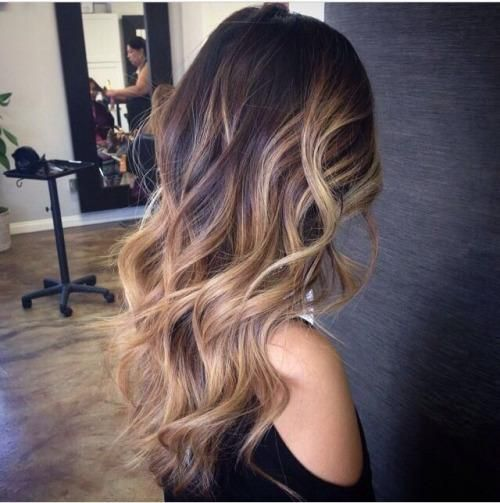 ombre balayage brunette