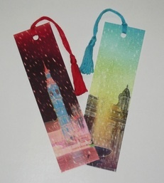 Images on bookmarks came from actual photos of London. Find on Minds4Art.com.