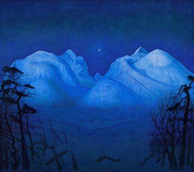 Harald Sohlberg, «Vinternatt i Rondane»