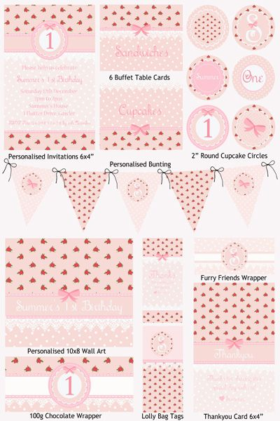 Vintage Rose Party Printable