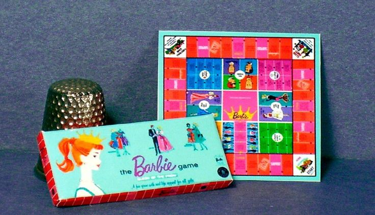 Dollhouse Miniature 1:12 Barbie Queen of the Prom Game 1960s  dollhouse game toy #LCM