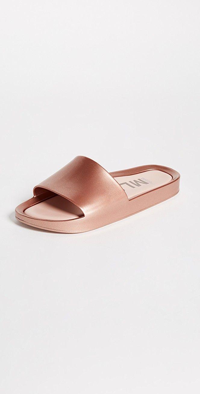 Melissa Beach Slide Shine Sandals | SHOPBOP