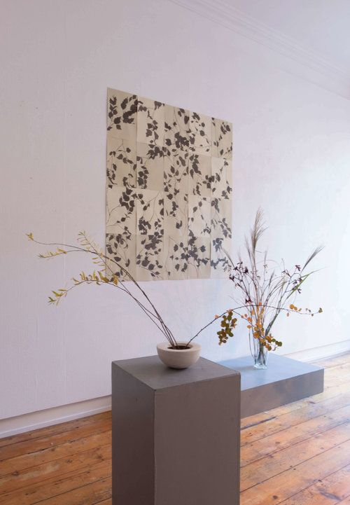 Lucy Auge - Tree Shadow Paintings  Ikebana, Exhibition,Wall Art