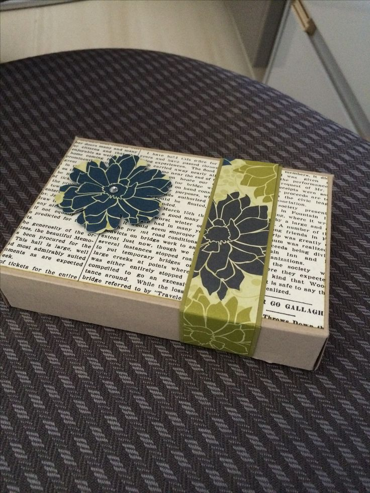 Gift box, one of my paperwork projects.