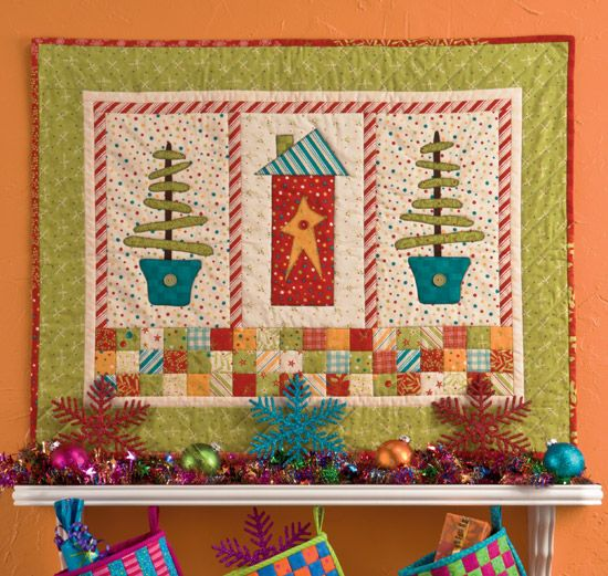 Christmas Quilting Patterns Free : 64 best images about Free patterns! on Pinterest Knit wrap pattern, Quilt patterns and Boxing day