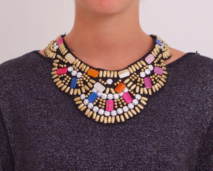 Collar babero étnico www.belleboheme.es