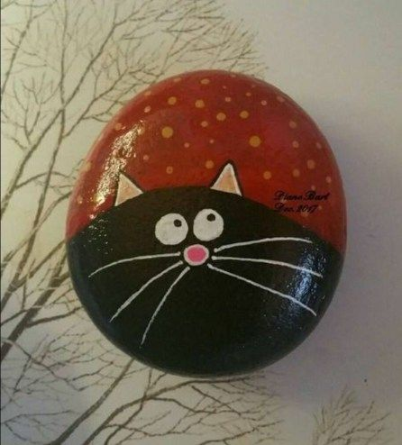 20+ Creative Diy Painted Rocks Ideas With Cats Animal For Summer