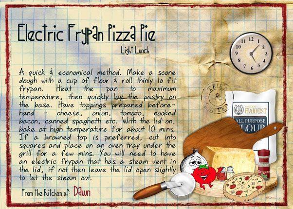 Electric Frypan Pizza