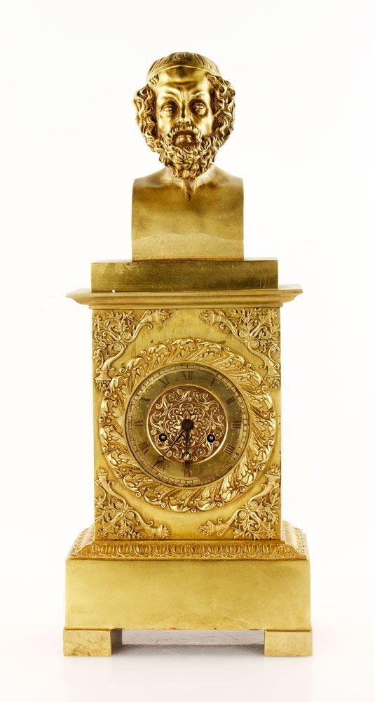19th century Empire bronze clock