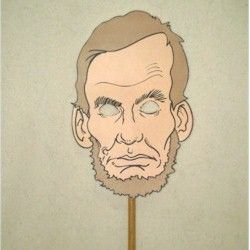 Abraham Lincoln Puppet Mask Craft - -  Pinned by @PediaStaff – Please Visit http://ht.ly/63sNt for all our pediatric therapy pins