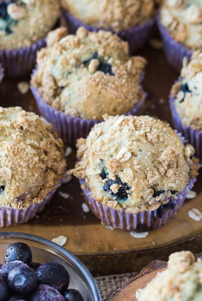Step-by-Step Recipe for Blueberry Streusel Muffins with pictures!