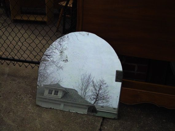 Vintage Chippy Shabby Cottage Wall  Mirror Shabby Cottage Deor Boho Style Vintage Decor Mantle Mirror by LeapOfFaithVintage